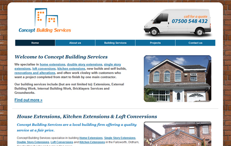 Concept Building Services Website