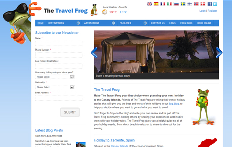 The Travel Frog Website